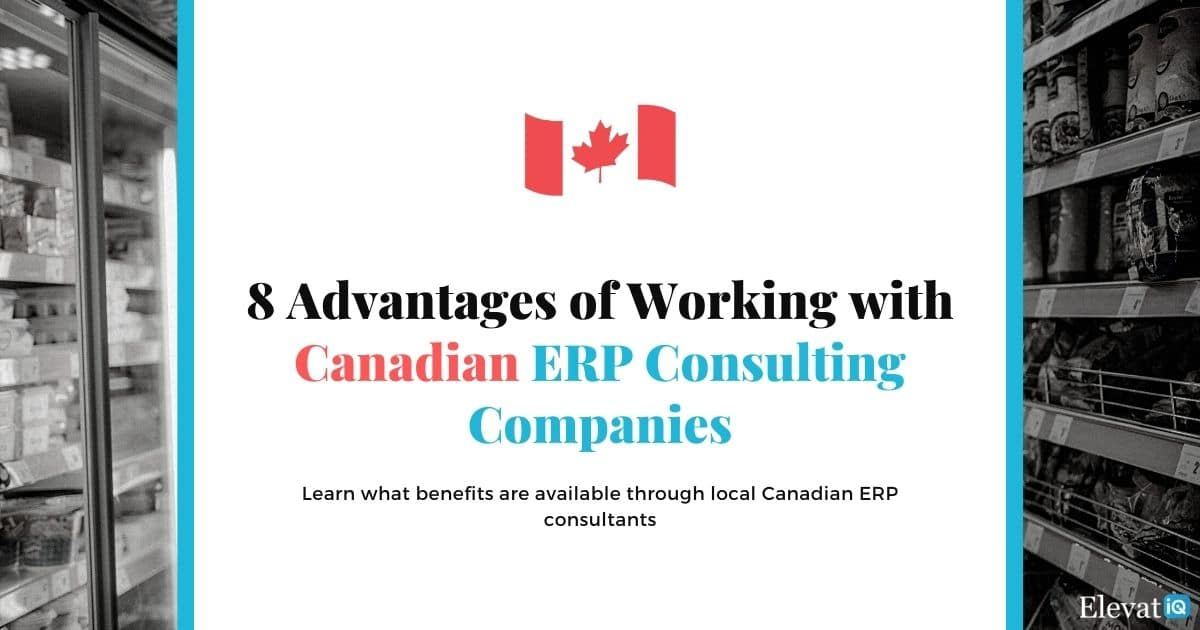 8 Advantages of Working with Canadian ERP Consulting Companies