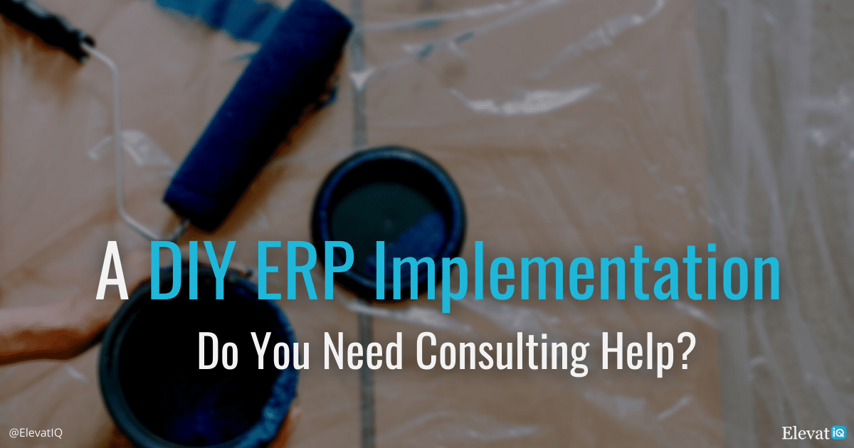 A DIY ERP Implementation: Do You Need Consulting Help?