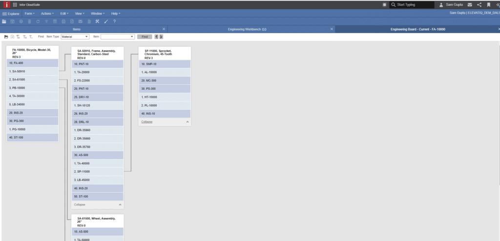 Visual BOM View - Infor CloudSuite Industrial (Syteline) ERP