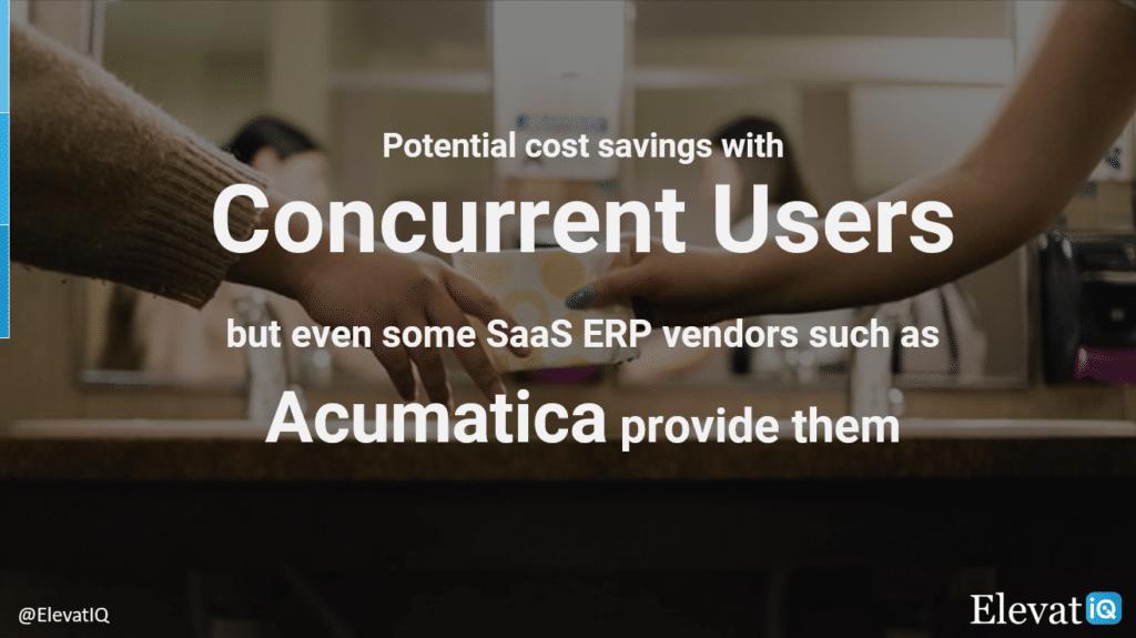 Concurrent User Pricing | Acumatica Cloud ERP | ElevatIQ