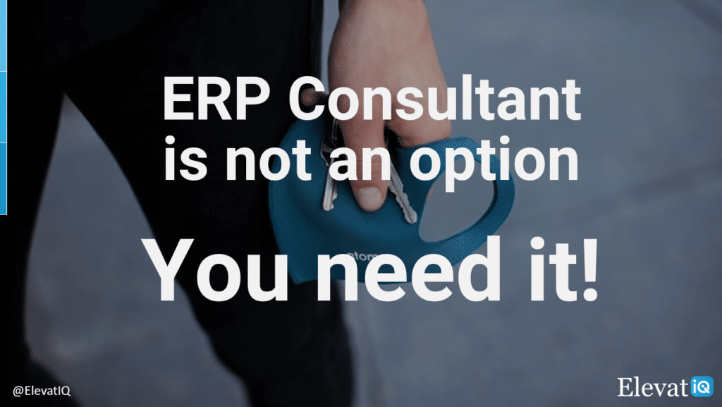 ERP Consultant Is Not An Option | ElevatIQ