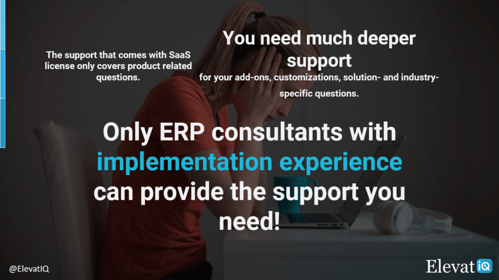 Only ERP consultants with ERP implementation experience can provide the support you need | ElevatIQ